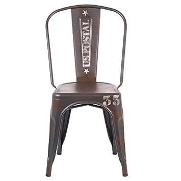 Indhouse - Silla Industrial Tolix Style: Amazon.es: Hogar