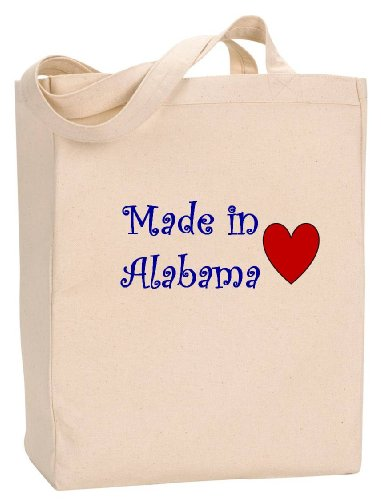 MADE IN ALABAMA - State Series - Natural Canvas Tote Bag with - In Huntsville Shopping Alabama