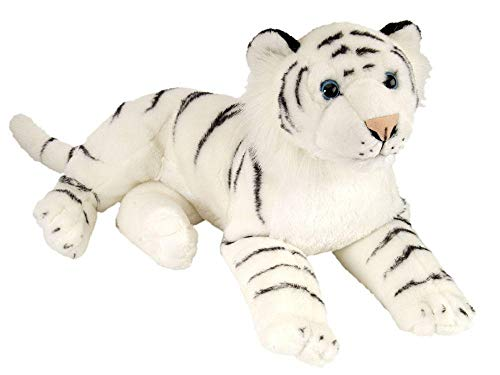 Price comparison product image Wild Republic White Tiger Plush,  Large Stuffed Animal,  Plush Toy,  Gifts for Kids,  Cuddlekins 16 Inches