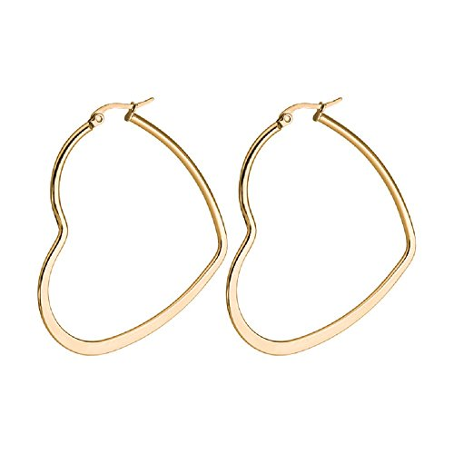 Heart Hoop Earrings (Gold (14k Gold Heart Hoop Earrings)