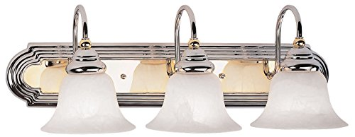Drawing Room Collection Wall Bracket (Livex Lighting 1003-52 Belmont 3-Light Bath Light, Chrome and Polished Brass )