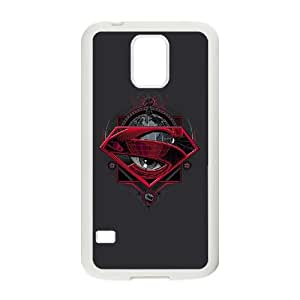 Superman Grey Eye Samsung Galaxy S5 Cell Phone Case White phone component AU_467311