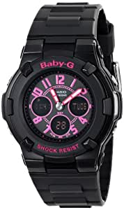 Casio Women's BGA-117-1B1CR Baby-G Analog-Digital Display Quartz Black Watch