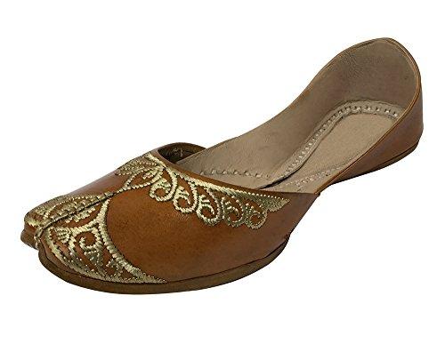 Step n Style mujeres planas planas zapatos de ballet jutti mojari étnico Kolhapuri Khussa - Multi-Print