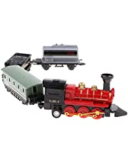 Colcolo Red Pull Back Locomotive Steam Train Toy Set voor Kids Peuter Party Gunsten