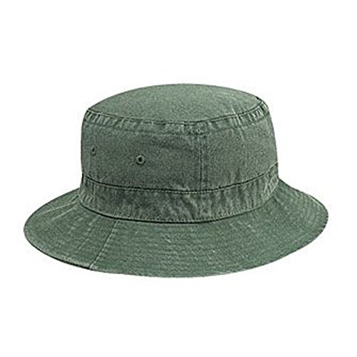 Otto Caps Washed Pigment Dyed Cotton Twill Solid Color Bucket Hats (Twill Dyed Pigment Solid Cap)