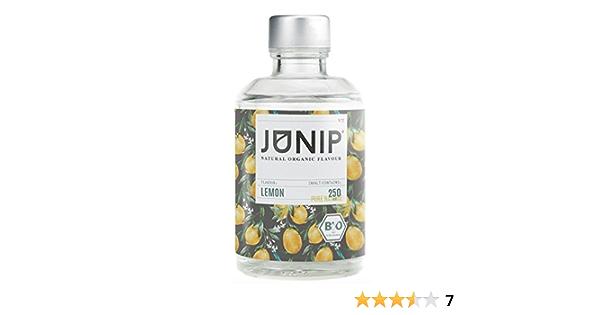 Saborizante natural de bebidas JUNIP   para té, agua y cócteles   100% BIO sin aditivos artificiales ni azúcares añadidos   Sabor a limón
