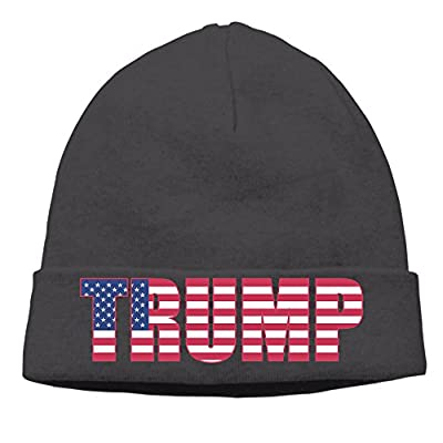 Unisex America Donald Trump 85% Cotton Beanie Hat Black
