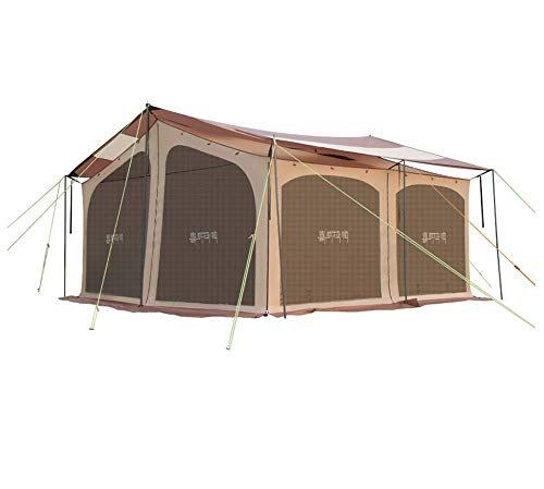 BBX-Family-Group-Tent-with-Sun-Canopy-5000-mm-Water-Column-Festival-Camping-Backpacking-Trekking-Waterproof-Outdoor-Dome-Tent-5-8-Persons-Windproof-Snow-Shelter