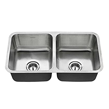 Image of American Standard 18DB.9321800T.075 Undermount 32x18 Double Bowl Sink, Stainless Steel