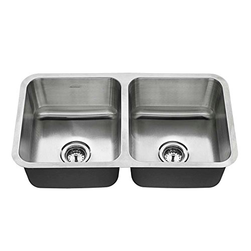American Standard 18DB.9321800T.075 Undermount 32x18 Double Bowl Sink, Stainless Steel American Standard Undermount Sink