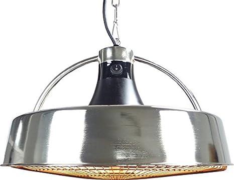 Silber + bis 2.100 Watt + Geringe Blendwirkung Aktobis Decken-Heizstrahler Zeltheizer WDH-210S Balkonheizer