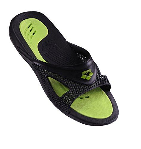 Arena Hydrofit Man Box, Pantoffeln Pool Unisex Erwachsene, unisex - erwachsene Black/Black/Green