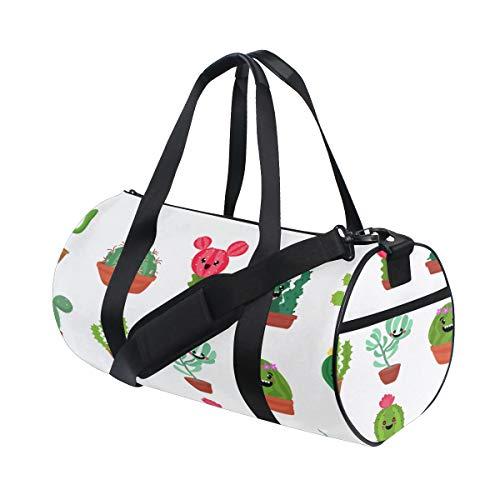 (Gym Bags Useful Succulent Plants Green Gym Duffle Bag Lightweight Handbag Organizer For Gym Rats Mens Workout Bag Dance Run Badminton Rucksack)