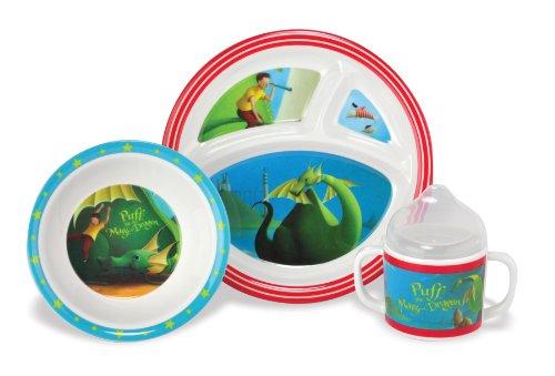 Kids Preferred Melamine Feeding Set, Puff the Magic Dragon, Baby & Kids Zone