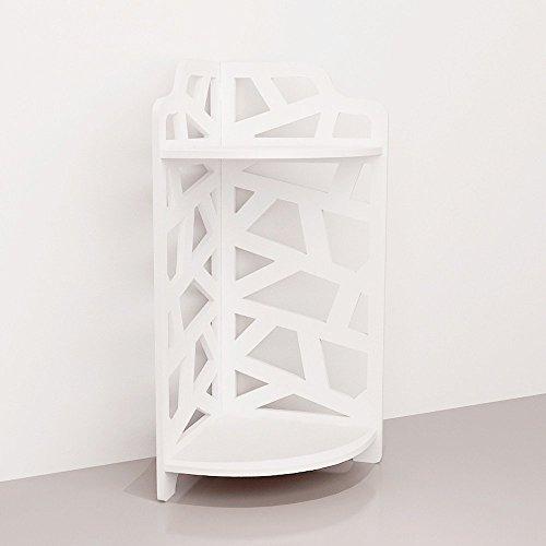 Revesun High density Wooden-Plastic Plate Room corner bookshelf and commodity shelf White