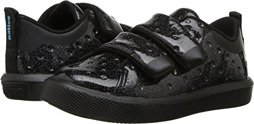 Native Kids Shoes Baby Girl's Monaco H&L Glitter (Toddler/Little Kid) Black Glitter/Jiffy Black 10 M US Toddler