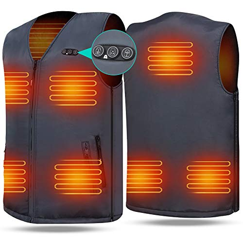 Heated Vest Size Adjustable 7.4V Battery Electric Warm Vest for Hiking Camping ARRIS (For Jackets Heated Kids)