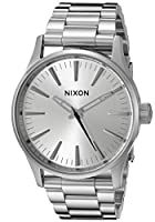 Nixon Men's A4501920 Sentry 38 SS Analog Display Analog Quartz Silver Watch