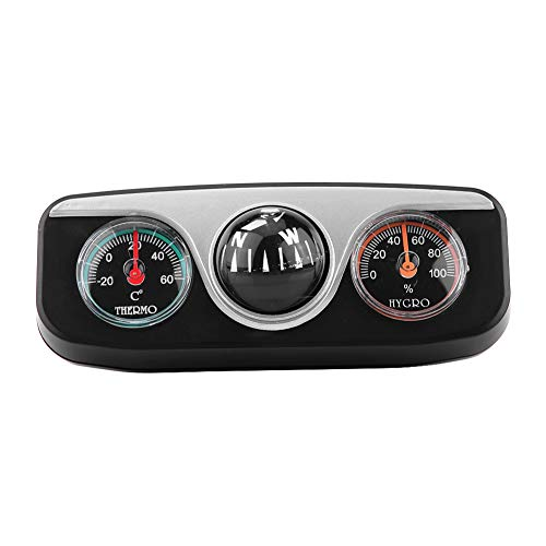 KIMISS 3 in 1 Multi-functional Compass Dash Mount Navigation Direction Digital Compass + Thermometer + Hygrometer Adjustable For Marine Boat Truck Auto Car