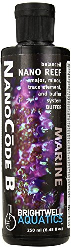 Brightwell Aquatics ABANCB250 Nanocode B Liquid Salt Water Conditioners for Aquarium, 8.5-Ounce