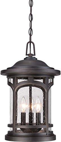 Quoizel MBH1911PN Marblehead Outdoor Pendant Lighting, 3-Light, 180 Watts, Palladian Bronze 18 H x 11 W