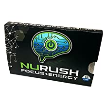 NURUSH | FOCUS+ENERGY | 4 Packs | Full Spectrum Cognitive Enhancer Nootropic | Combat Fatigue, Stress, & 'Brain Fog' | Caffeine Free |