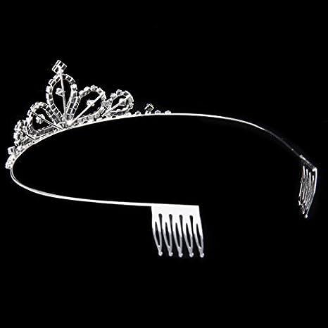 Sefon/_Bwomen Tiara de Boda con Piedras Preciosas de Cristal Fiestas de Princesas cumplea/ños Fiestas de promoci/ón Ocasiones Especiales