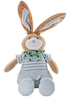 f65fdf5e04c Mousehouse Gifts Stuffed Animal Plush Blue Bunny Rabbit Soft Toy for  Newborn Baby Boy Gift…