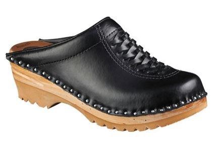 Troentorp Women's Båstad Wright Black Leather Clogs 37 EU