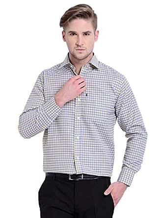 AXE Check Shirt for Men - Yellow/Blue