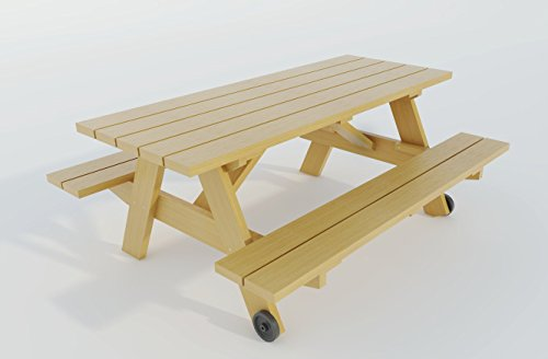 Build your own Picnic table (DIY Plans) Fun to build!