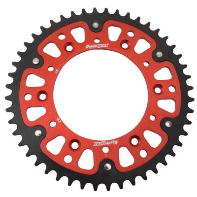 Supersprox Stealth Rear Sprocket 51 Tooth Red for Honda CRF450R 2002-2018