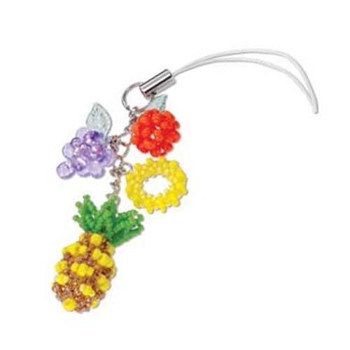 Create Your Own Miyuki Bead Cell Phone Charm Kit - Tropical Fruits