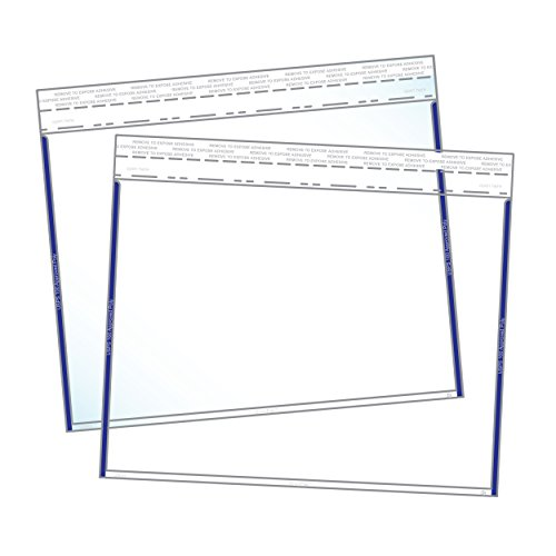 Clear 9x12 Color-Coded Edge Catalog Envelopes - Pack of 100 (Blue) by EnvyPak