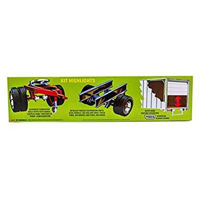AMT Double Header Tandem Van Trailers - 1/25 Scale Model Trailer Kit - 2 Buildable Haulers for Kids and Adults: Toys & Games