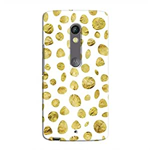 Cover It Up - White Pale Gold Pebbles Moto X Play Hard case