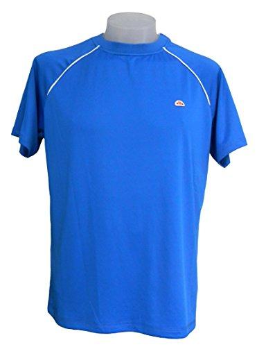 ellesse Herren Poloshirt Tennis Performance Rundhals. weiß, blau, Größe: S, M, L, XL, XXL (M, 1070 Blau)