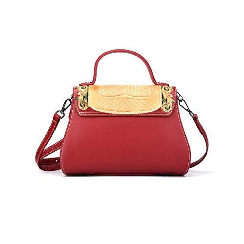 AJLBT De Main à Capacité Brown Sac La Sac Fait Style Simple Dames Mode Main Style Chinois Rétro à Grande SrSxZw