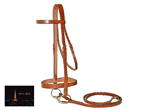 Paris Tack Classic Flat English Hunter Bridle with Laced Reins