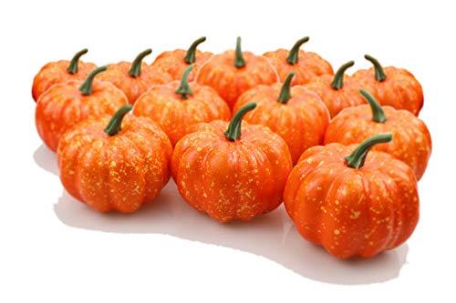 FDIO Halloween Mini Pumpkins Artificial Pumpkin in 3.15 inches for Home Kitchen Garden Party Decor (20Pcs) ()