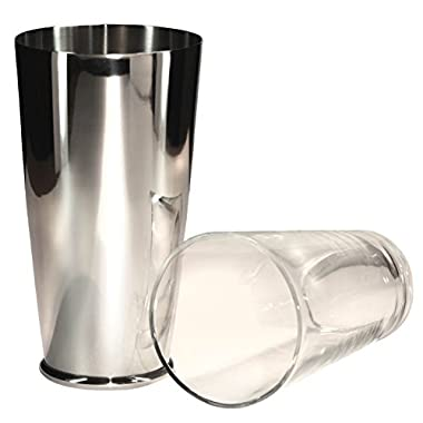 Boston Shaker Premier 28 Ounce Quality Stainless Steel Weighted Cocktail Shaker and 1 Pint Mixing Glass - Precisely Weighted for Stability - Preferred by Pros and Amateurs Alike