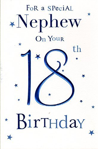 Special Nephew 18th Birthday Card By Icg Cards Amazoncouk Kitchen Home