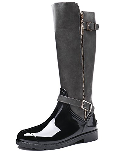 TONGPU Womens Snow Boots Rain Footwear Grey jzzxQI