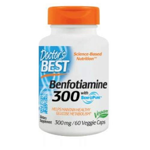 Best Benfotiamine, 300 mg, 60 vcaps by Doctors Best (Pack of 2) by Doctor's Best