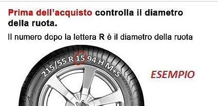 AUTOFORNITURE ITALIA Copricerchio Coppa Ruota con Logo Nero in Rilievo borchia coppone Diametro 15 per Ypsilon 2011