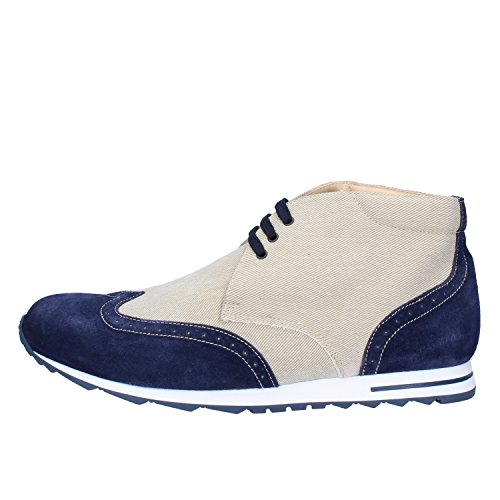 GOLD BROTHERS - Botas para hombre Beige / Blu