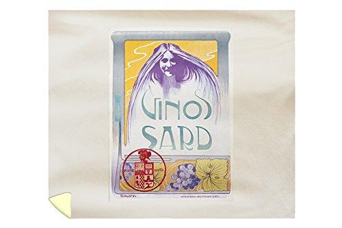 Vinos Sard Vintage Poster (artist: Nualart) Spain c. 1902 (88x104 King Microfiber Duvet Cover) by Lantern Press