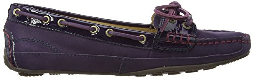 Dark Purple Leather Mujer Sebastian Mocasines Patent Bala xIgRz8w