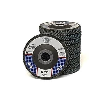 50 Pack 4.5x7//8 Jumbo Zirc Flap Disc Grinding Wheel 60 Grit